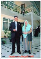 Suratda: Meli Qobilov umr yo'ldoshi bilan